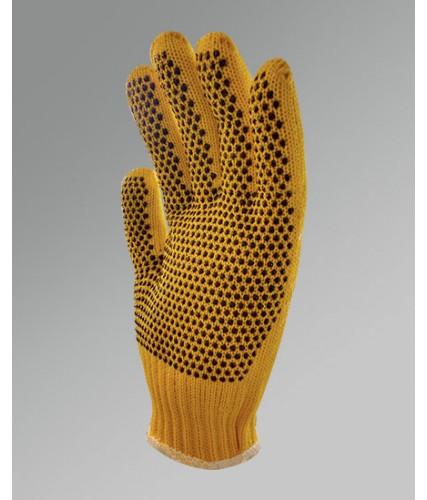 Luva de malha tricotada, pigmentada